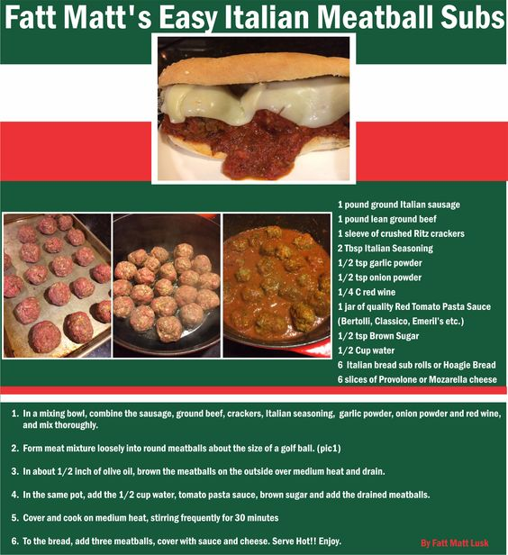 Easy, homemade Italian Meatball Subs. No more nasty store bought excuses for meatballs.