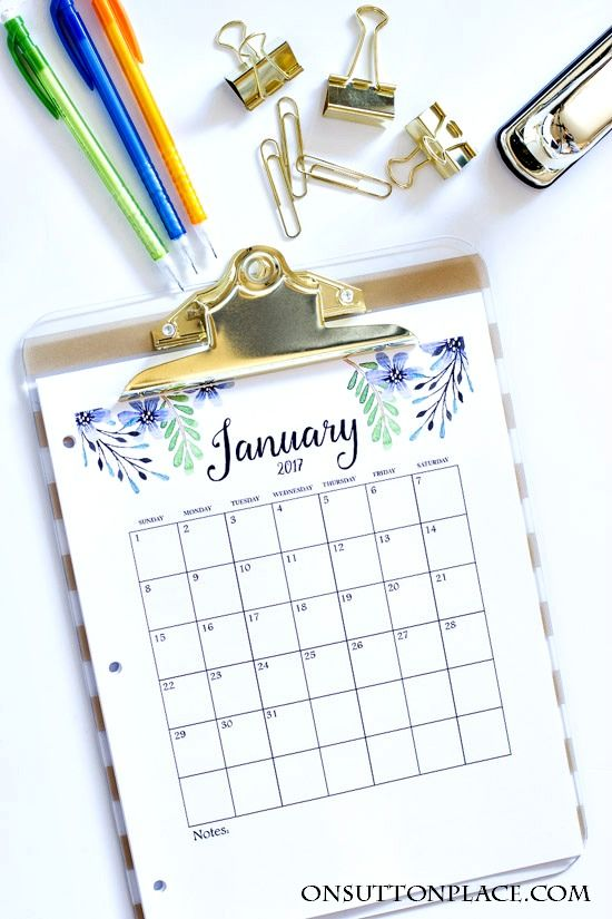 2017 Free Printable Monthly Calendar Calendrier, Idée cadeau - free printable monthly calendar
