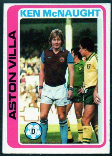 Topps-Footballers-1979-Blue-Back-2-Ken-McNaught-Aston-Villa-Ex-Ex-Cond