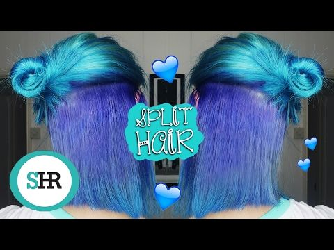 How To Dye Your Hair Half And Half Ad Youtube 37 Hottest Ombre Hair Color Ideas Of 2020 59 Fiery Orange H In 2020 Half And Half Hair Hair Dye Tutorial Dyed Hair Blue