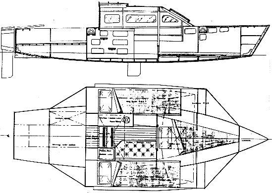 Threefold 6 Plywood Trimaran Boat Plans Red Squid Boat
