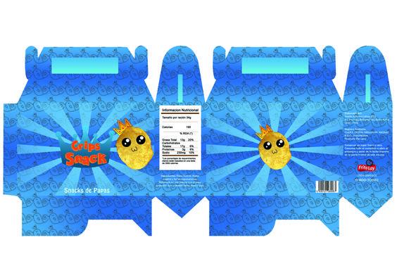 Empaque tipo lonchera para frituras (papas fritas) Curso: Diseño Grafico 4