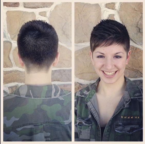 military inspired shearing | Pixie cut | Pinterest