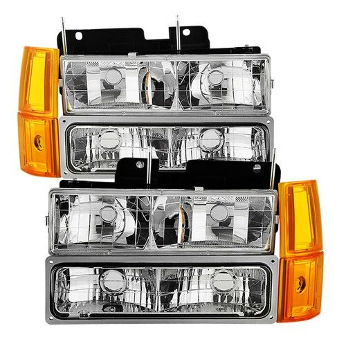 1994 1995 1996 1997 1998 Gmc Sierra C10 Suburban Yukon Bumper Corner Signal Lamps Headlights Chevy Trucks Accessories Aftermarket Headlights Light Accessories