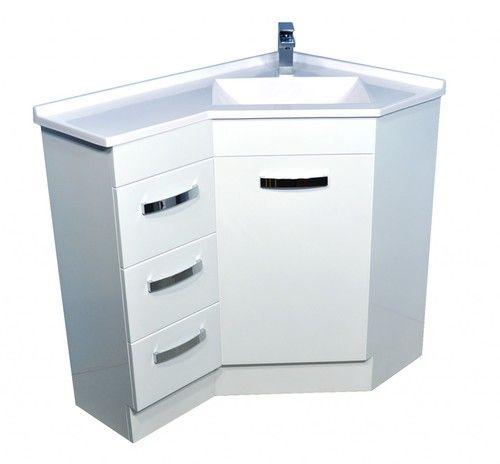 900x600 Corner Vanity Gloss White Abl Tile Corner Vanity Vanity Units Corner Bathroom Vanity