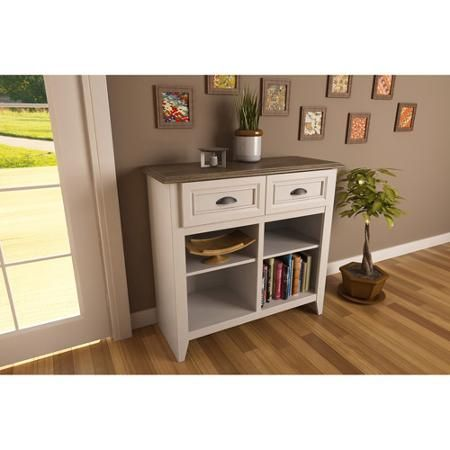 Entryway Console Table, White and Oak. $129.00