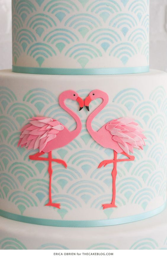 Flamingo Cake | by Erica OBrien for TheCakeBlog.com: