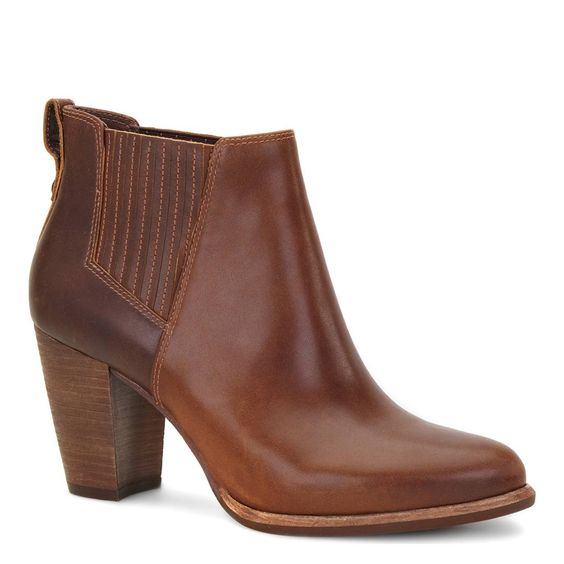 Brown Leather Poppy Sheepskin Lined Chelsea Boots