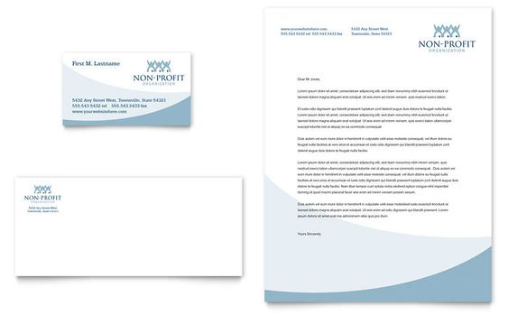 Community Non Profit Business Card \ Letterhead Template Design - letterhead sample