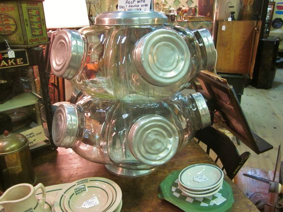 amazing revolving general store candy jar rackwow antique furniture apothecary general store candy