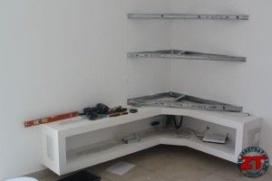 Tvs and construction on pinterest - Fabriquer un meuble tv ...