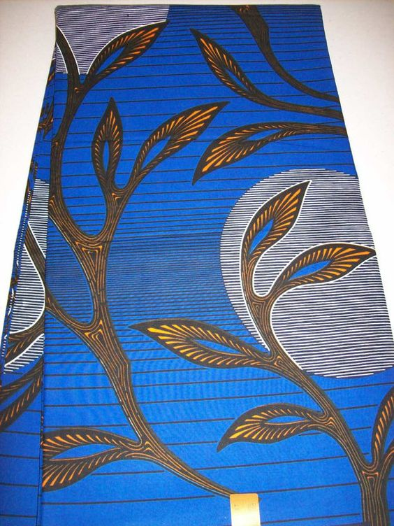 African moon blue background fabric 6 yards wholesale/ Use for making African…