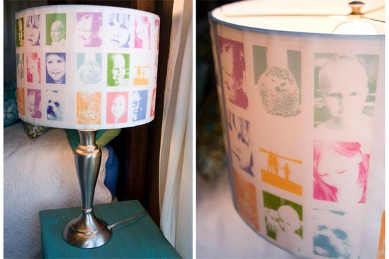 DIY photo lampshades