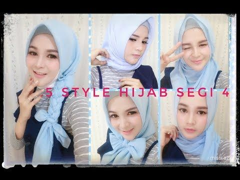 Tutorial Hijab Segi Empat Satin Motif Cara Lif Co Id