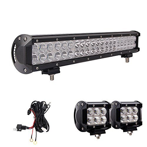 Led Light Bar Northpole Light 20 126w Waterproof Cree Spot Flood Combo Led Light Bar With 2pcs 18w Cree Flood Led Work Lights And 12v 40a Wiring Harness For O With Images