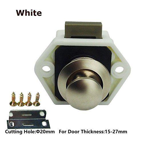 Camper Caravan Motorhome Push Button Catch Lock Cupboard Door Cabinet Latch Knob