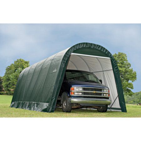 13' x 20' x 10' Round Style Shelter, Green