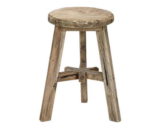 Kruk Ole   Kleur: naturel Materiaal: mungur wood/teak Afmeting (hxØ): 50x30 cm