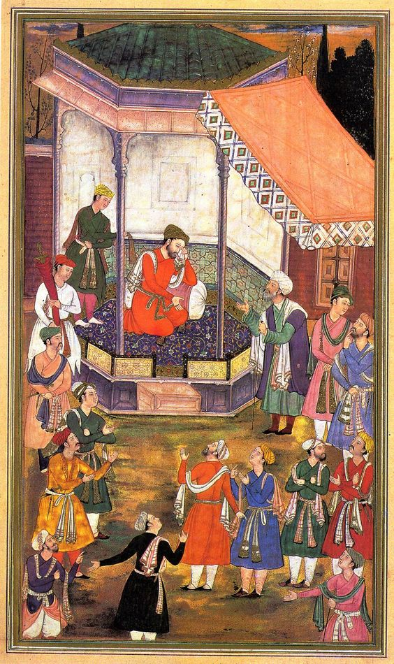 Akbar's court: Akbar S Court, Diseño Grabado, Active Mughal, Mughal Emperor, Sleeve Inspiration, Example 15 3, Student Example