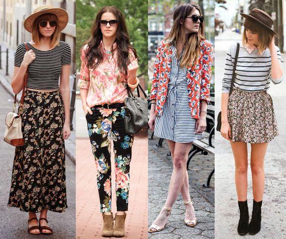 Crespa e Estilosa : Dica de moda: Mix de estampas