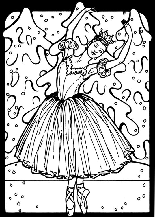 snow queen coloring page
