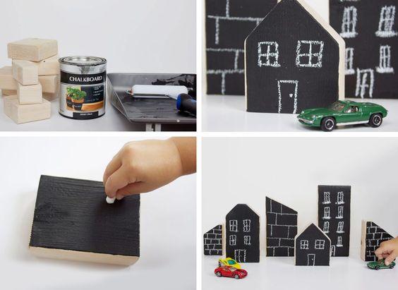 Creare un gioco per i bambini con la vernice effetto lavagna   DIY Blackboard paint toys • #lavagna #design #blackboard #paint #DIY #toys