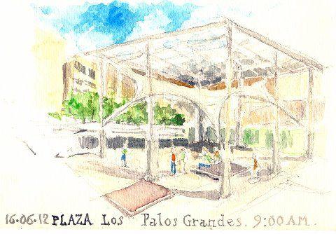 Acuarelas de La Plaza Los Palos Grandes
