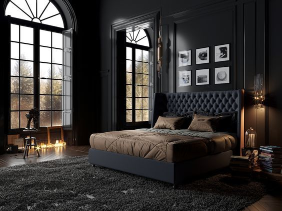 Nightstands Beds Side Tables Cabinets Or Armchairs Are Some Of The Luxury Bedroom Furniture Tips Tha Black Bedroom Design Luxurious Bedrooms Classic Bedroom