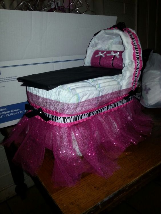 Diaper bassinet cake