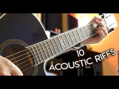10 Acoustic Guitar Riffs For Beginners W Tabs Youtube Guitar Guitar Riffs Acoustic Guitar