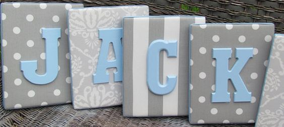 Block letters on canvas. Love! Get blank canvas', cover with fave paper, glue on letters!