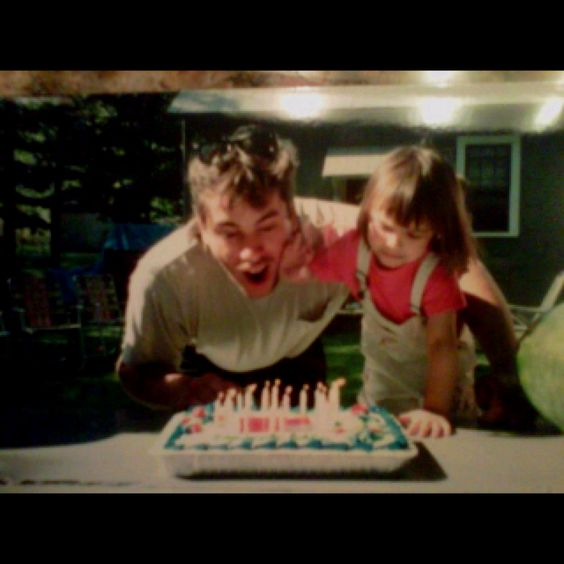 i was just a little girl blowing out the candles with my dad. I wish I was still that young