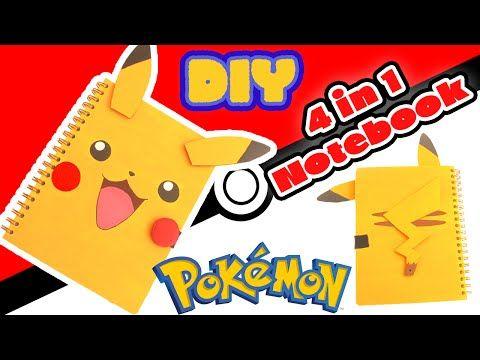 DIY Pikachu 4 in 1 Notebook - Back to School Crafts