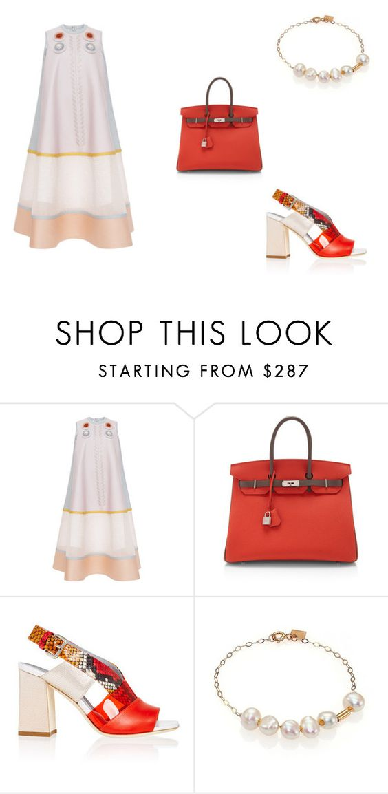 """""""your personalities"""" by hanii-omachiss ❤ liked on Polyvore featuring Delpozo, Hermès, Pollini and Ginette NY"""
