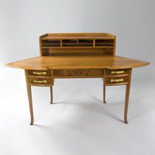 French Art Nouveau Desk by Dufrène
