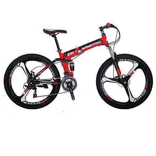 Kingttu G6 Mountain Bike 26 Inches 3 Spoke Wheels Dual Suspension