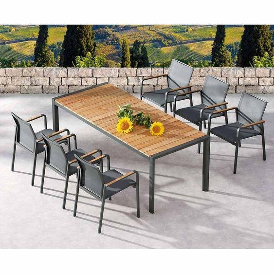 Best Paros Gartenmobelset 5 Teilig Mit Tisch Paros 160x90cm