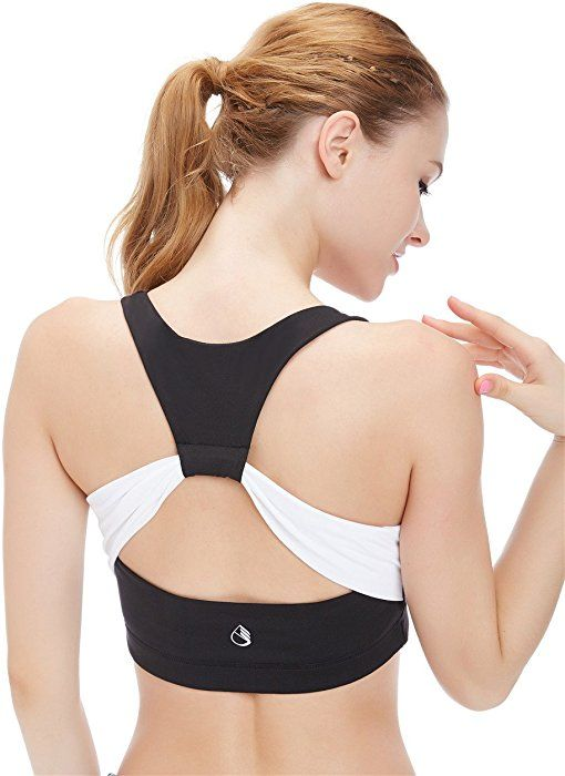 icyzone Workout Sports Bras for Women Fitness Athletic Exercise Running Bra Yoga Tops