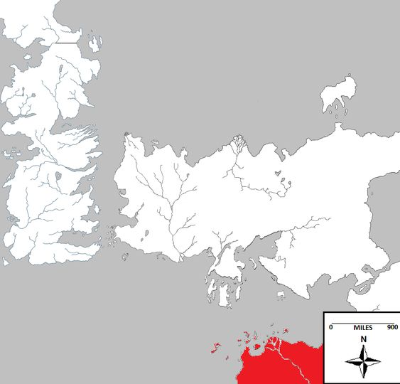 Sothoryos is the third continent in the Known World, after Westeros and Essos. It lies to the southeast of Westeros and due south of Slaver's Bay in Essos, across the Summer Sea. Sothoryos is located in the extreme south of the known world, and it is mostly unexplored. It is unknown if there are...