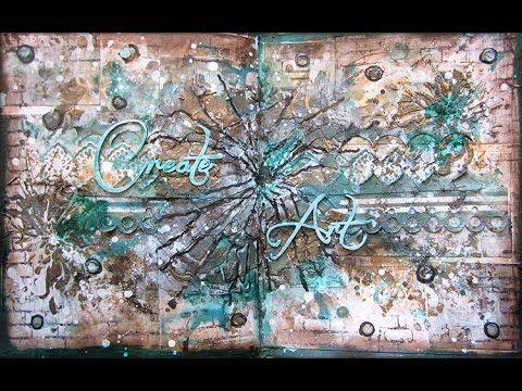Mixed Media Art Journaling page