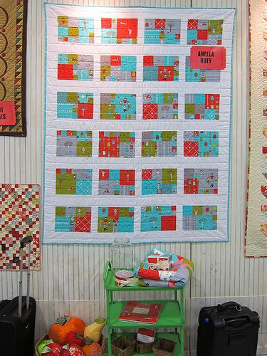 I like this quilt for the rectangular blocks...no need to always be square!