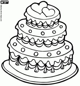 Cake Pictures To Print And Colour : Wedding cake coloring page Wedding Reception Ideas ...