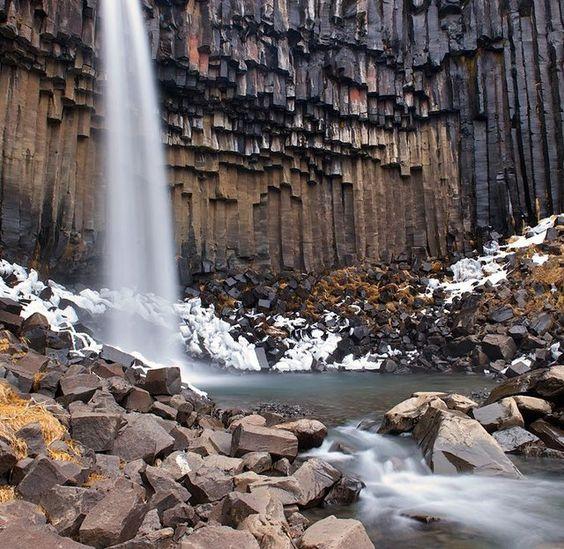 Svartifoss Waterfall @ Iceland