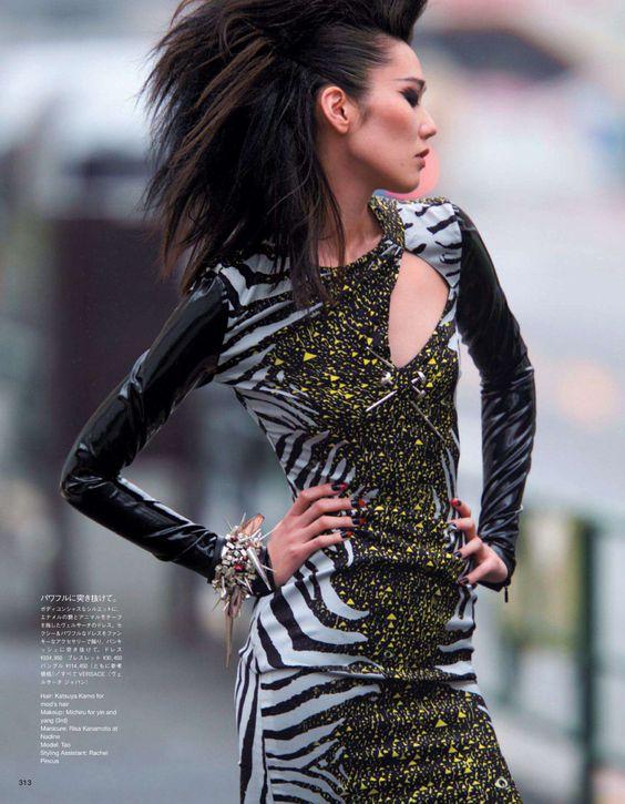 Tao Okamoto by Hans Feurer for Vogue Japan November 2013