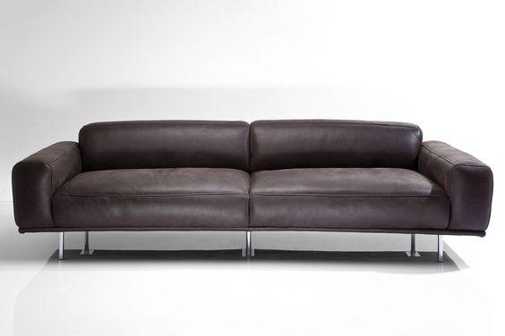 Sofa Lorenzo 245cm Leder anthrazit by Kare Design/Studio Divani ...