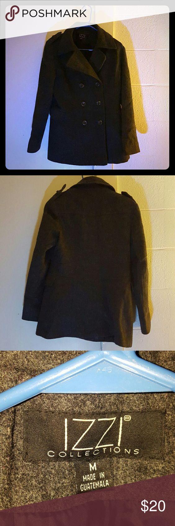 Izzi Collection Women S Pea Coat Great Condition Dark Gray Pea Coat By Izzi Collection And Has No Damages Izzi Collec Pea Coats Women Clothes Design Fashion [ 1692 x 564 Pixel ]