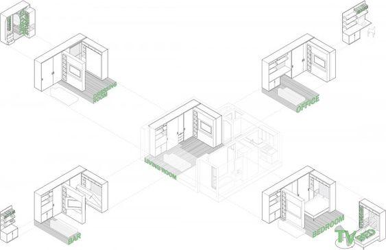 27 best furniture transforming images on Pinterest Apartment - küchen modern design