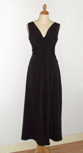 Black crinkle maxidress