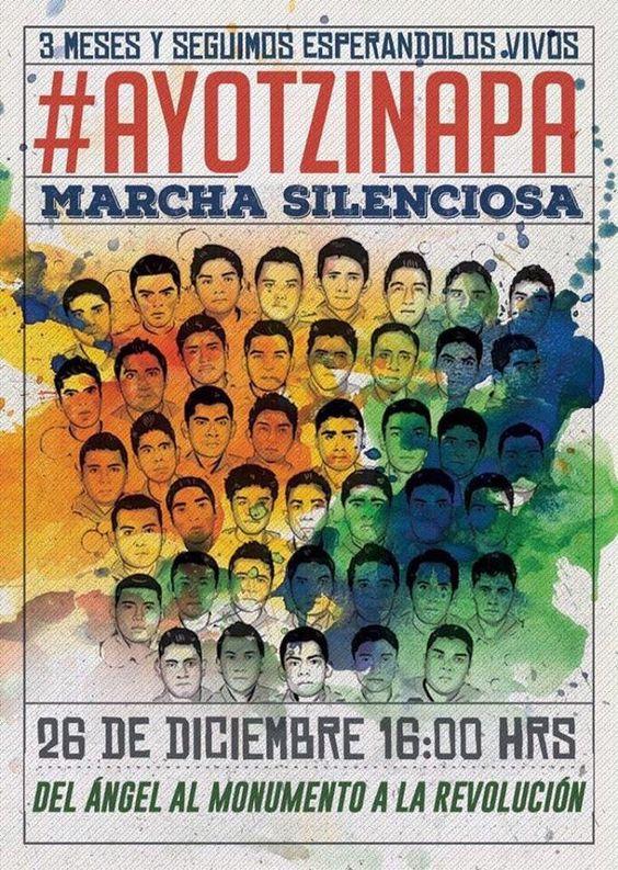 3 meses y seguimos esperando la presentación con vida de los 43 normalistas de Ayotzinapa