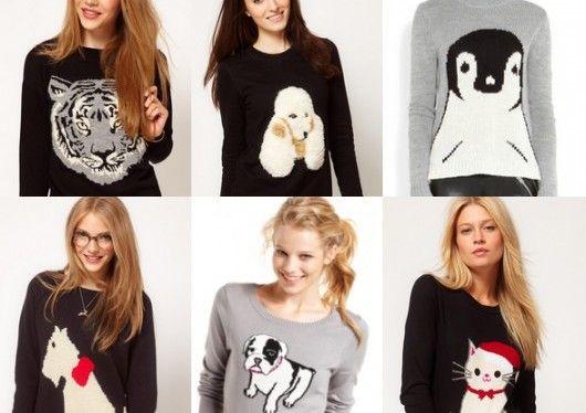Suéteres con entrampado de animales | una tendencia fuerte en esta temporada